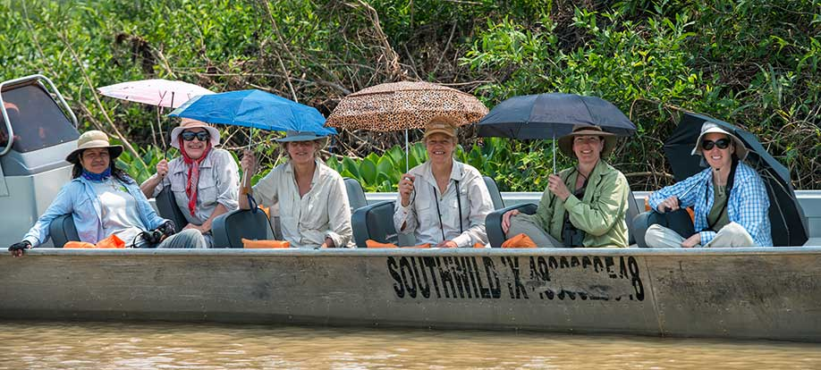 On a boat in the Pantanal
